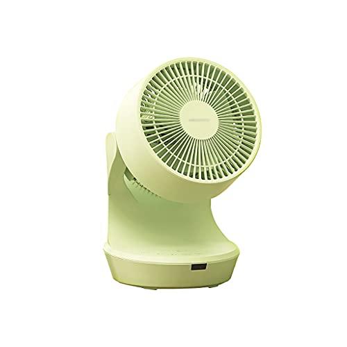 WYH Ventilador personal de escritorio recargable de 3 velocidades, ventilador pequeño, ventilador inteligente, control remoto para oficina personal, escritorio, coche al aire libre (color verde)