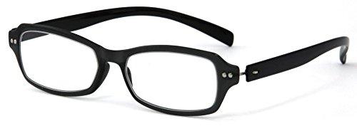 デューク 老眼鏡 +3.0 度数 ネオクラシック 超軽量フレーム ソフトケース付き ブラック GLR01-1+3.00