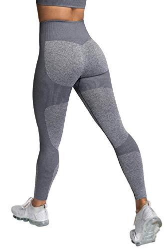 CMTOP Leggings Donna Sportivi Seamless Pantaloni da Yoga e Reggiseni Sportivi Super Elastici Senza Cuciture delle Donne Hanno Messo Le Ghette di Yoga per la Corsa di Allenamento della Palestra