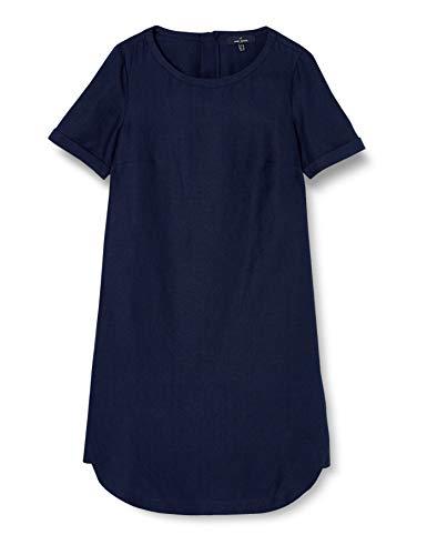 Daniel Hechter Damen Linen Dress Kleid, Blau (Navy 680), (Herstellergröße:34)