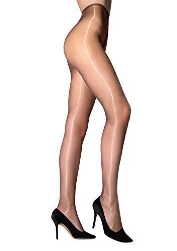 Rafael Eterno Super glanzende panty's, 20 DEN, transparant (natuur), X-Small (maat van de fabrikant: 1) voor dames