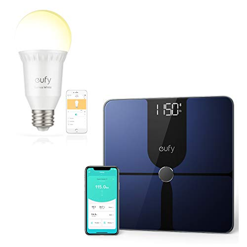 Cheapest Price! eufy Smart Scale P1 | eufy Lumos Smart Bulb by Anker- White