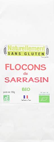 NATURELLEMENT SANS GLUTEN Flocons de Sarrasin Bio 350 g - Lot de 4