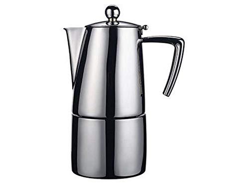 Ilsa 0091S020IE Espressokocher Satin, Induktion, 2 Tassen, Dichtungen, Stahl.