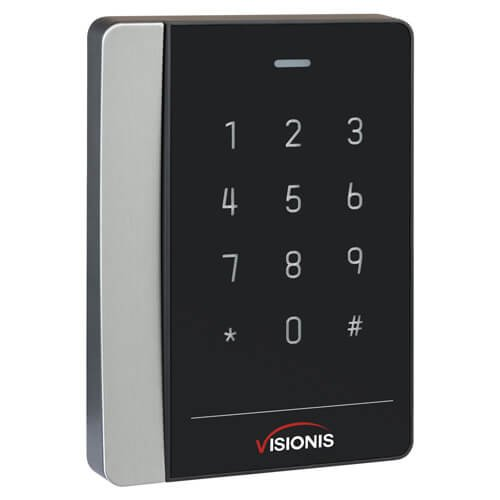 Visionis VIS-3018 Access Control Black with Clear Border Card Reader and Keypad Only Compatible with Wiegand 26 and 34 Bit RS485 EM Card Compatible Only