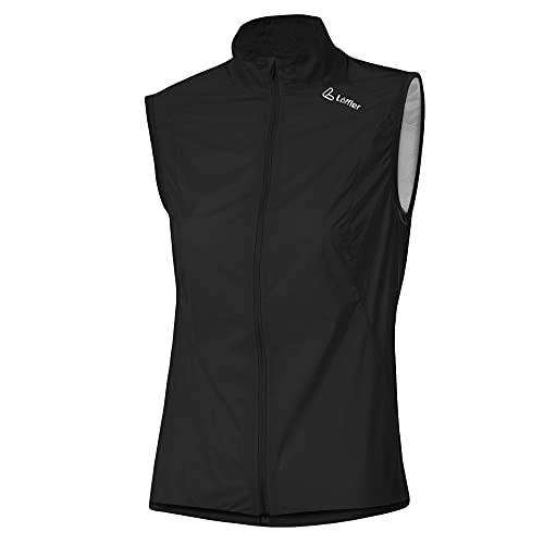 LÖFFLER W Bike Vest WaterproofM Pocket Schwarz, Damen Weste, Größe 36 - Farbe Black