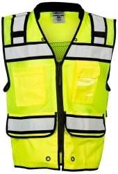 ML Kishigo S5004-L High Performance Surveyors Zipper Vest Lime Large