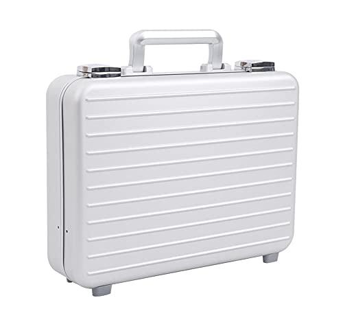 Urecimy Maletín de metal de aluminio para maleta de almacenamiento duro para hombres - 14.6X10.6X6.1 pulgadas