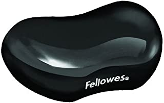 Fellowes Gel Crystals - Reposamuñecas flexible, negro