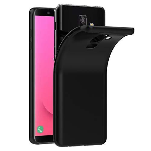 VGUARD Funda Carcasa Gel Negro para Samsung Galaxy J8 2018, Ultra Fina 0,33mm, Silicona TPU de Alta Resistencia y Flexibilidad