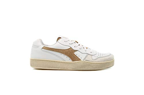 Diadora - Sneakers MI Basket Low per uomo e donna, Marrone (Croissant bianco), 43 EU