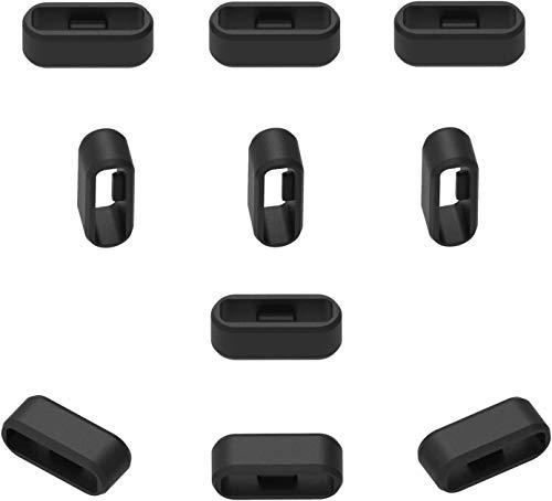 Ruentech verschlussring Kompatibel mit Garmin vivosport / vivofit2 / Approach X10 / Approach X40 Band Zubehör Verschlusshalter Silikon-Sicherheitsverschluss 11pcs