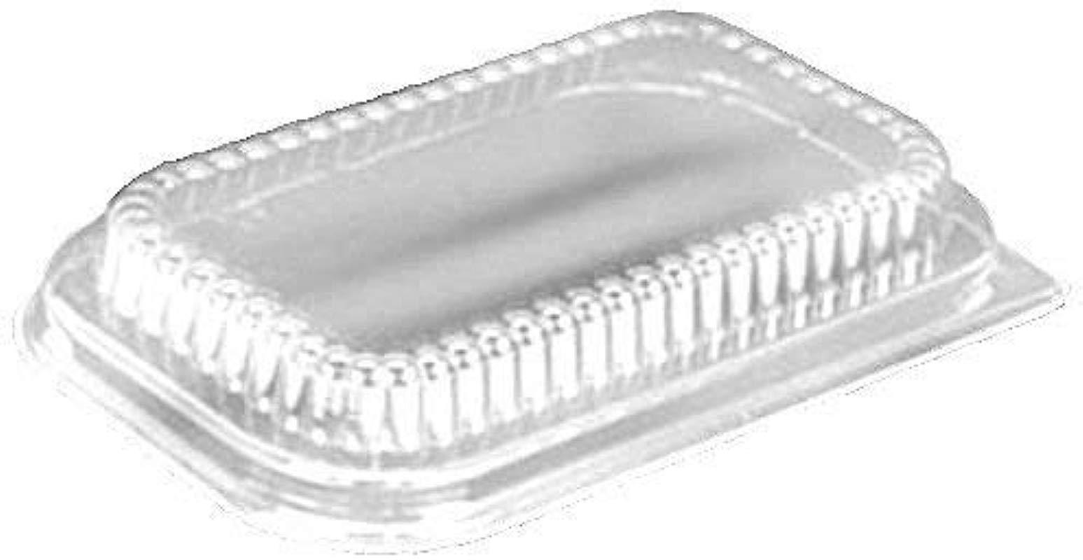 Handi Foil Clear Low Dome Lid For 1 Lb Aluminum Foil Loaf Pan Pack Of 400