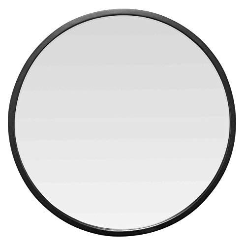 EMDE Miroir Metal Rond Noir 100X100CM