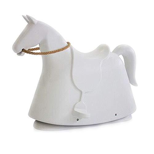 DUTUI Children's Fun Toys, Birthday Gifts for 3-7 Years Old Pony, Rocking Horse Playground Kindergarten Toy Rocking Chair, 71X50x95cm,White