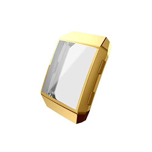 Coque Compatible avec Smart Watch Protecteur D'écran Coque Placage TPU, Couverture Totale TPU Cas Protecteur D'écran Couverture de Cas pour Smart Watch (Rose)