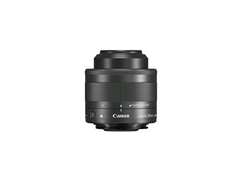 Canon 1362C005 Obiettivo, EF-M 28 mm f/3.5 Macro IS STM, Nero/Antracite