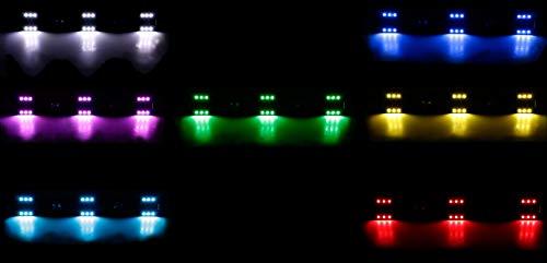 All Ride LKW Innenbeleuchtung, LED-Leiste Flache Bauweise, 6 x 3 SMD-LEDs, 7 Farben, geschaltet, Lichtleiste Länge 50 cm, 12-24V