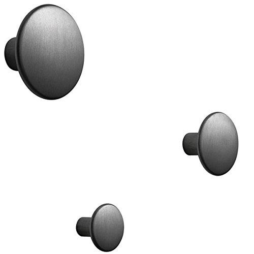 Muuto - Wandhaken, Garderobenhaken - The Dots - Metal - schwarz - groß