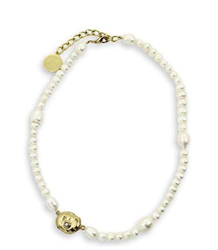 Collar de perlas Cadena de clavícula femenina Estilo joven Collar de personalidad de moda Estilo corto femenino Moda