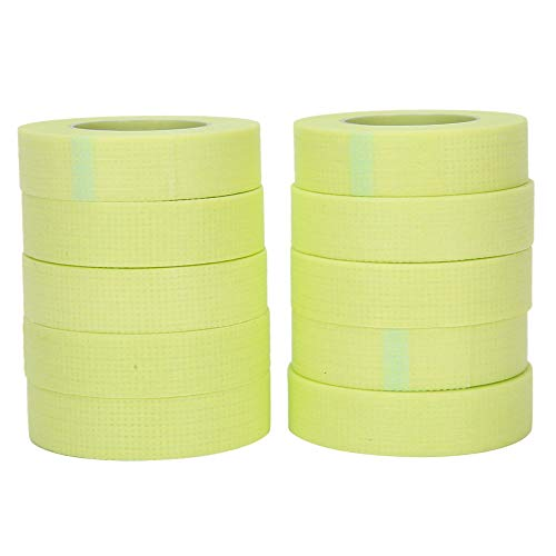 Redxiao Ruban d'isolation de Cils adhésif pour Cils greffés, Ruban de Cils greffé Confortable, Amoureux à Usage Professionnel Magasin de beauté débutant(10 Green)