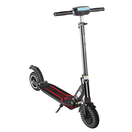 GQQG Patinete Eléctrico para Adultos, Scooter Electric Plegable Velocidad Patinete Eléctrico con Luz LED / 25 km/h/ 350W Motor, Pantalla LCD, Impermeable IP64 (Negro)