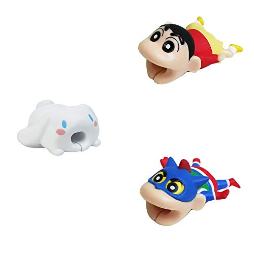 Cable Bite for iPhone, iPad and USB Cord Sleeve Cute Cartoon Crayon Shin-chan Cable Accessory by Veryke
