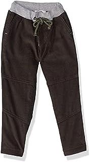 Giggles Elastic Drawstring Waist Side Pocket Corduroy Pants for Boys