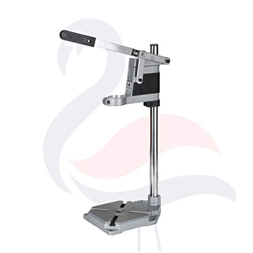 Drill Press Stand for Hand Drill, Mini Portable Drill Press Stand | Universal Benchtop Drill Press or Mini Drill Press Holder | Adjustable Chuck with Double Holes, Cast Iron Base for Drill Press