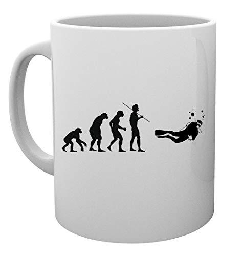 Evolucion A Escafandra Autonoma Buzo Taza Mug Cup