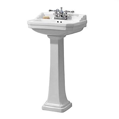 Foremost Series 1920 FL-1920-4W Pedestal Combo Bathroom Sink, White