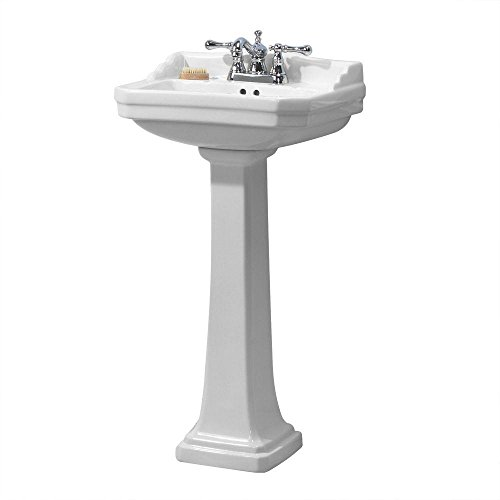 Foremost Series 1920 FL-1920-4W Pedestal Combo Bathroom Sink, White