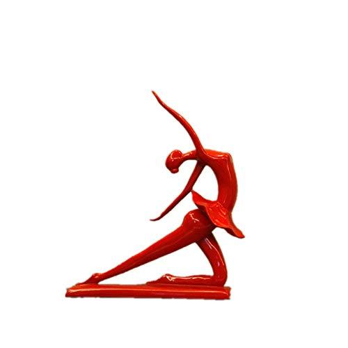 Escultura Decoración Estatuas Figuritas Escultura Figuritas Decorativas Estatuas Figura De Calistenia Femenina Figura Yoga Pose Retrato Escultura De Arte Resina Arte Y Artesanía Accesorios De Dec