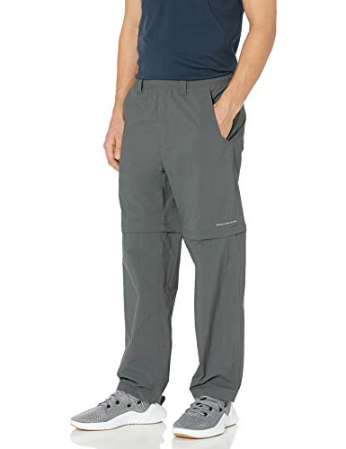 Columbia Men's Backcast Convertible Sun Pants, Quick Drying,Grill,Large x 32