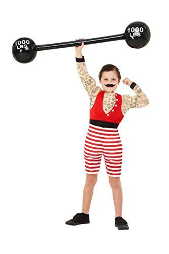 Horror-Shop Starker August Retro Deluxe Muskelkostüm für Kinder als Halloween oder Karneval Outfit M