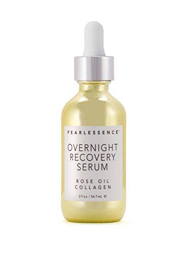 Pearlessence recuperador noche suero, aceite de rosa colágeno - minimiza la aparición de líneas finas y arrugas, dando como resultado más suave e hidratada la piel