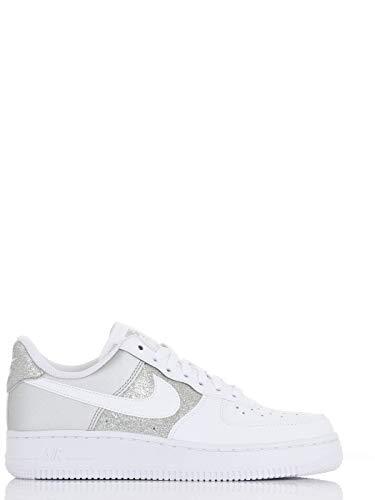 Nike Wmns Air Force 1 '07, Zapatillas de bsquetbol Mujer, White White Mtlc Silver, 43 EU