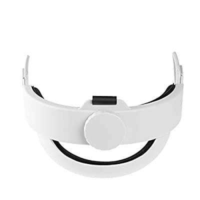 Ermorgen VR Headband Compatiable for Oculus Quest 2, Replacement for Elite Strap Adjustable Clockwork Knob Design Non-Slip Head Strap with Extra a Head Cushion, Virtual Reality Headset Accessories