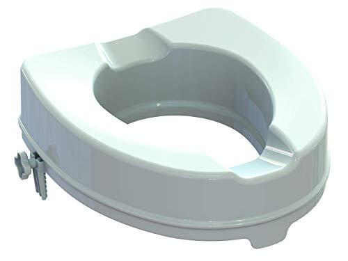 Rialzo WC, 10 cm, alzawater anatomico con sistema di fissaggio laterale, portata 225kg