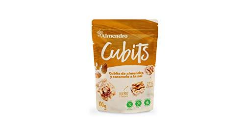 El Almendro - Cubits de Almendra y Caramelo a la Sal - 100 gr - Sin Gluten - Sin Aceite de Palma - Sin Aromas Artificiales
