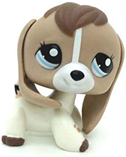 Littlest pet Shop LPS #2207 Tan White Beige Brown Beagle Dog Puppy Blue Eyes