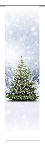 Home Fashion Weihnachtsbaum Schiebevorhang, Stoff, grün, 245 x 60 x 0,1 cm