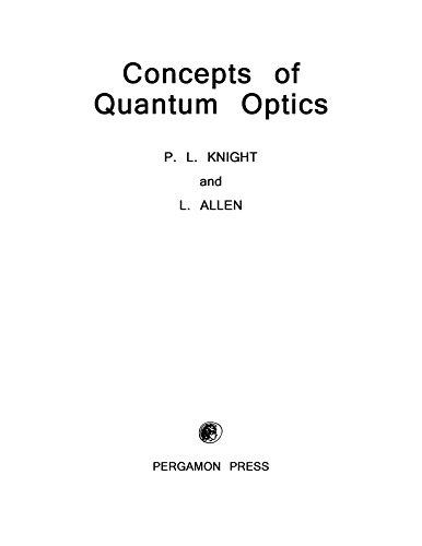 Concepts of Quantum Optics (English Edition)