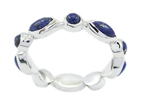 riyo Exporteur 925er Sterlingsilber-replendent echter Blauer Ring, Blauer Steinsilberring aus Lapislazuli