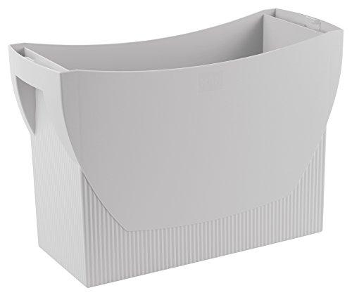 HAN Hängemappenbox SWING – praktische Box mit integriertem Stifteköcher für Mappen und Ordner, lichtgrau, 1900-11
