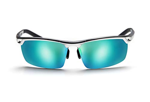 Gafas de Sol High-Quality Sunglasses Metal Sport Hombre. Polarizadas Protección Total UV400. Visión Nítida Sin Reflejos. Contrastes Superiores y Colores Naturales. Verde Mar