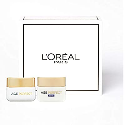 L'Oreal Paris Age Perfect Skincare Set, Day and Night Regime for Mature Skin by Loreal