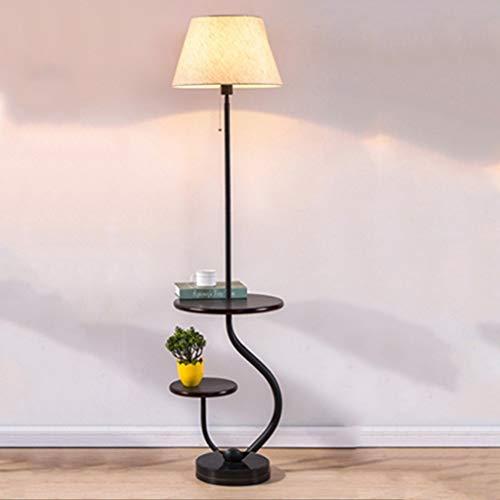 N/Z Equipo Diario Lámpara de pie de Hierro Forjado Sala de Estar Creativa Sofá Lámpara de Lectura Vertical/Lámpara de Mesa de Lectura de Estudio Fuente de luz E27 (Color: Interruptor de Cremallera A)