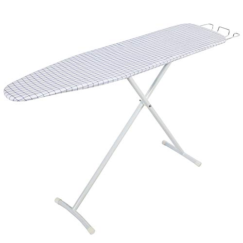 Bizroma Ironing Board Table with Steam Rest and Sturdy Legs and 7 Adjustable Heights, 13 x 54 inches , Plaid