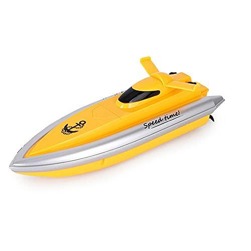LINXIANG Barco RC, barco de control remoto para piscinas y lagos, lancha rápida RC, barco de carreras eléctrico de alta velocidad con control remoto de 2,4 G para niños y adultos, regalo de cumpleaños